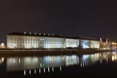 Wroclaw al wojewodzki di Urzad di notte Fotografie Stock Libere da Diritti