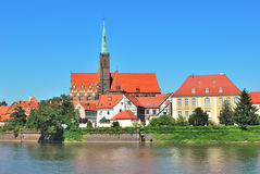 Wroclaw. Beautiful historic buildings Royalty Free Stock Photo