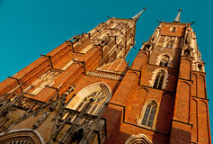 Wroclaw  cathedral ostrow tumski Royalty Free Stock Photos
