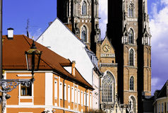 Wroclaw Cathedral in Ostrow Tumski, Poland Stock Photography