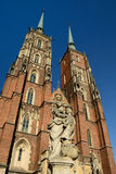 Wroclaw cathedral, Poland Royalty Free Stock Images