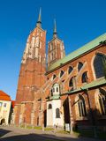 Wroclaw cathedral Royalty Free Stock Photos