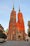 Wroclaw Cathedral  at sunset Royalty Free Stock Photo