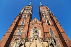 Wroclaw Cathedral towers Royalty Free Stock Photos