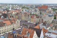 Wroclaw - centro de ciudad Foto de archivo libre de regalías
