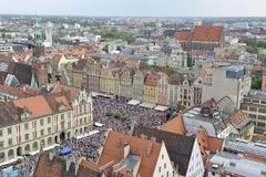 Wroclaw - city center Royalty Free Stock Photo