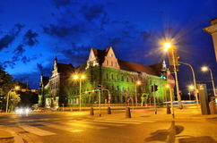 Wroclaw city by night Stock Photo