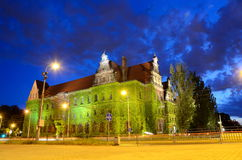 Wroclaw city by night Royalty Free Stock Photos