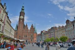 Wroclaw city street view Stock Image