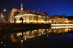 Wroclaw cityscape. Wroclaw (Poland) cityscape by night Royalty Free Stock Photo