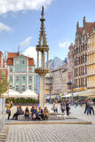 Wroclaw, cityscape. Pillory Royalty Free Stock Photography