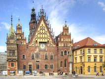 Wroclaw, cityscape. Town hall Royalty Free Stock Image