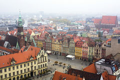 Wroclaw in cloudy weather. Traveling to Europe. Stock Photography