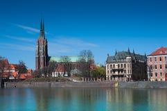 Wroclaw d'île de cathédrale (Bresslau) Photos libres de droits