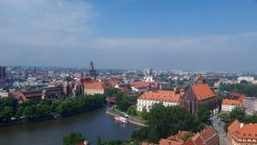 Wroclaw da sopra, la Polonia Fotografia Stock Libera da Diritti