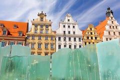wroclaw de belangrijkste markt in de oude stad royalty-vrije stock fotografie