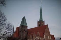 Wroclaw in de winter stock afbeelding