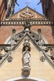 Wroclaw domkyrkadomkyrka av St John den baptistiska gotiska stilkyrkan, Wroclaw, Polen Royaltyfria Bilder