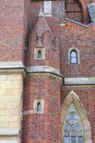 Wroclaw domkyrkadomkyrka av St John den baptistiska gotiska stilkyrkan, Wroclaw, Polen Royaltyfri Fotografi