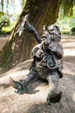 Wroclaw Dwarf. One of the dwarf statues in Wroclaw, Poland Royalty Free Stock Images