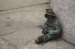 Wroclaw Dwarf. One of the dwarf statues in Wroclaw, Poland Royalty Free Stock Photography