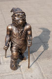 Wroclaw Dwarf. One of the dwarf statues in Wroclaw, Poland Royalty Free Stock Image