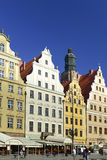 Wroclaw - east part of market place. Image was taken on July 2013 Royalty Free Stock Photography