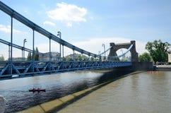 Wroclaw en Odra-rivier Royalty-vrije Stock Foto