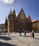 wroclaw för korridorpoland town Royaltyfri Fotografi