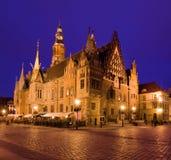 wroclaw för korridorpoland town Arkivfoton