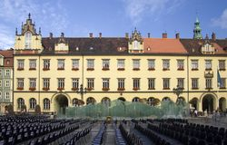wroclaw för marknadsfyrkant Royaltyfria Bilder