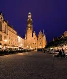 wroclaw för marknadsfyrkant Arkivbild