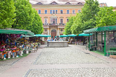 Wroclaw. Floral market Stock Photography