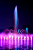 Wroclaw fountain show Royalty Free Stock Image