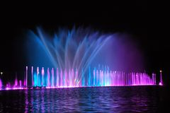 Wroclaw fountain show Stock Photo