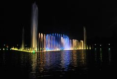 Wroclaw fountain show Royalty Free Stock Photo