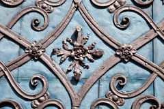 Wroclaw. Fragment of metallic gate of ancient temple Royalty Free Stock Image