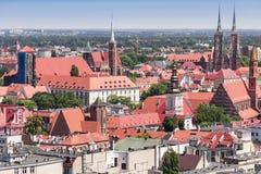 Wroclaw gammal marknadsfyrkant Royaltyfri Foto