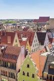 Wroclaw gammal marknadsfyrkant Arkivbild