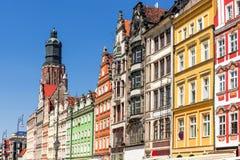Wroclaw gammal marknadsfyrkant Royaltyfri Fotografi