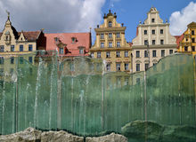 Wroclaw -glass  fountain. Image was taken in July 2012 in Wroclaw in the market square Royalty Free Stock Image