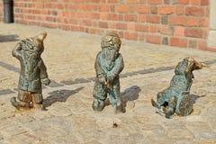 Wroclaw gnomer royaltyfri bild
