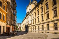 Wroclaw - het historische centrum van Polen Stock Afbeeldingen