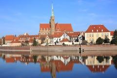 Wroclaw histórico en Polonia Imagen de archivo libre de regalías