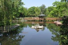 Wroclaw - japanträdgård Royaltyfria Foton