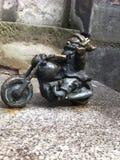 Wroclaw Krasnale (карлики) - мотоциклист Стоковая Фотография RF