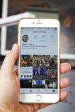 wroclaw La POLOGNE 20, octobre 2016 : Compte d'Instagram de Donald Trump montré sur Iphone 6 plus, Images libres de droits
