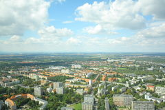 Wroclaw landscape. View from Sky Tower in Wroclaw Poland Royalty Free Stock Photo
