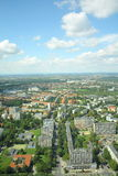 Wroclaw landscape. View from Sky Tower in Wroclaw Poland Royalty Free Stock Photography