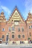 wroclaw Le bâtiment antique d'hôtel de ville Image stock